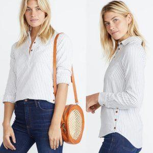 MARINE LAYER Dakota Popover Stripe Flannel Shirt